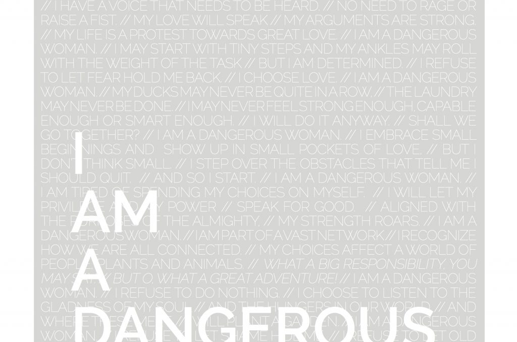 FREE DOWNLOADS OF DANGEROUS WOMAN POSTER (4 Different Options)