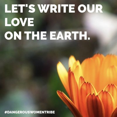 let's write our love on the earth