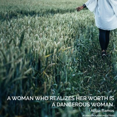 woman who realizes her worth